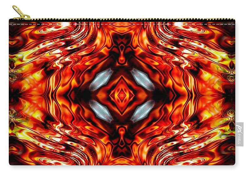 Abstract Carry-all Pouch featuring the digital art High Society by Robert Orinski
