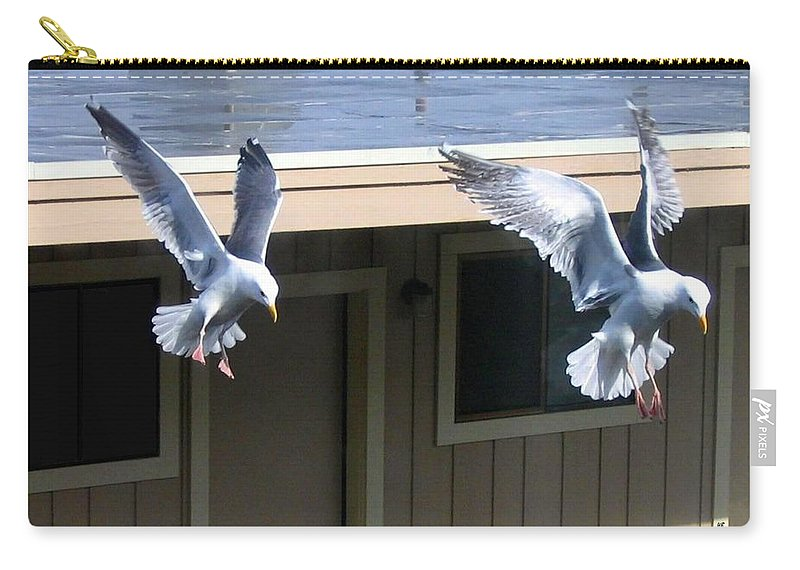 Seagulls Carry-all Pouch featuring the photograph High Spirits by Will Borden