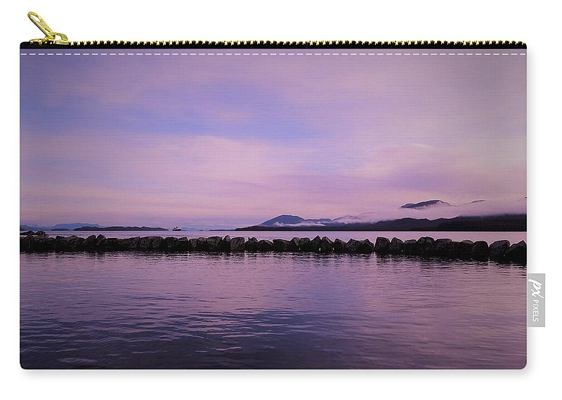 Purple Carry-all Pouch featuring the photograph High Tide by Karen Horn