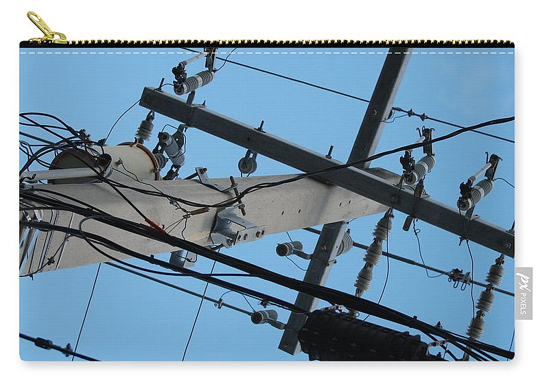 Sky Carry-all Pouch featuring the photograph High Wire by Rob Hans