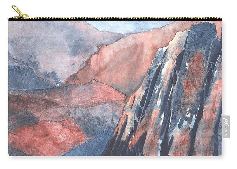 Landscape Carry-all Pouch featuring the painting Higher Ground by Lynn Quinn