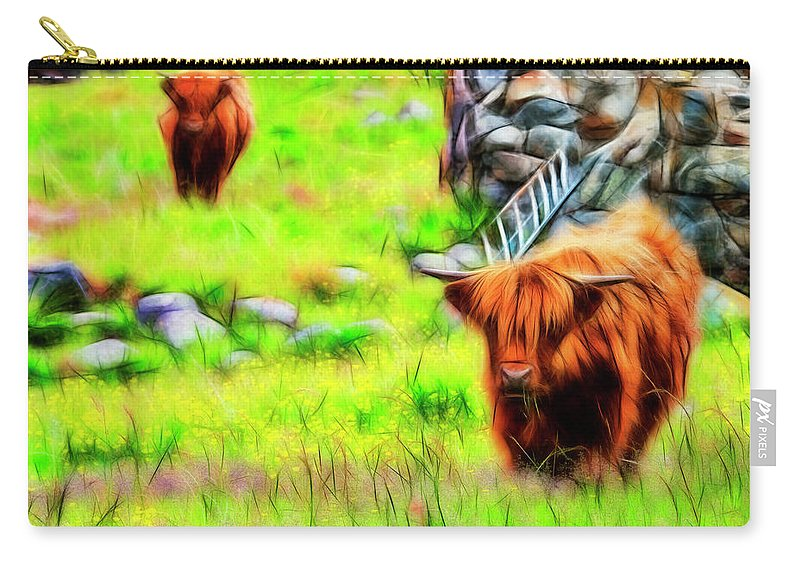Scotland Carry-all Pouch featuring the photograph Highland Cattle by White Stork Gallery
