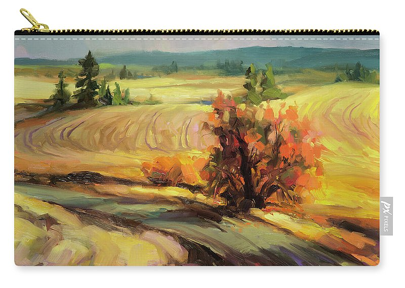Country Carry-all Pouch featuring the painting Highland Road by Steve Henderson