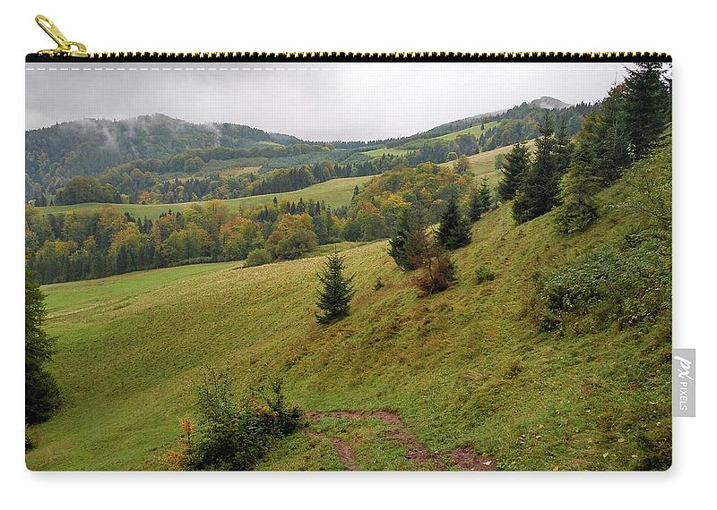 Pieniny Carry-all Pouch featuring the photograph Highlands landscape in Pieniny by Arletta Cwalina