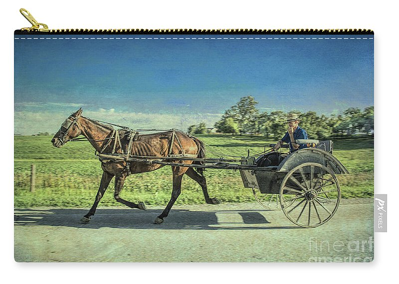Amish Carry-all Pouch featuring the photograph Heading Home by Lynn Sprowl