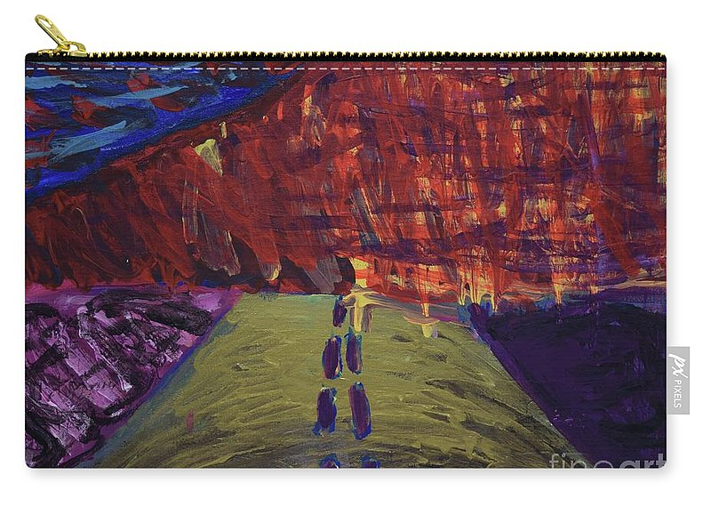 Wildfires Carry-all Pouch featuring the painting Highway To Hell by Aj Watson