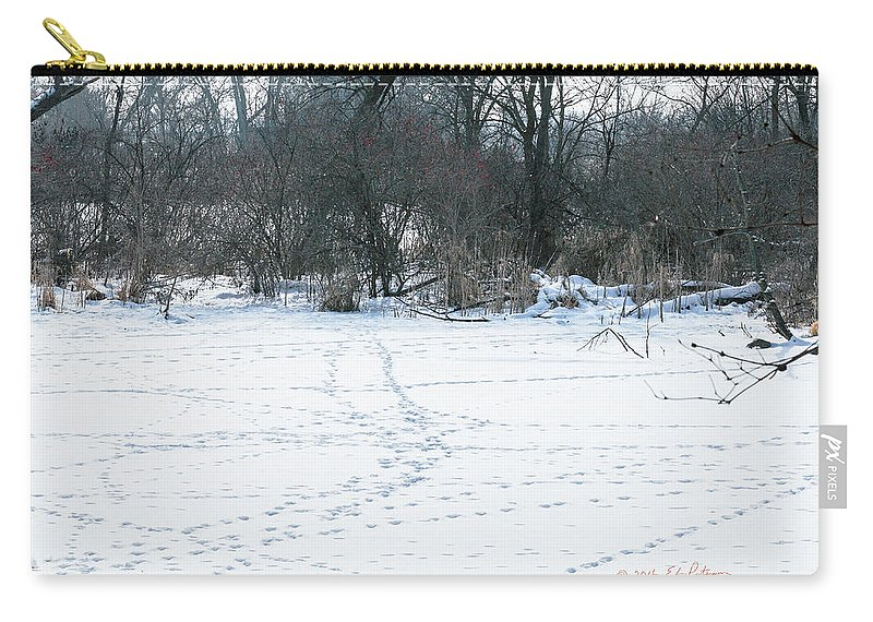Winter Scene Carry-all Pouch featuring the photograph Highways And Byways by Edward Peterson