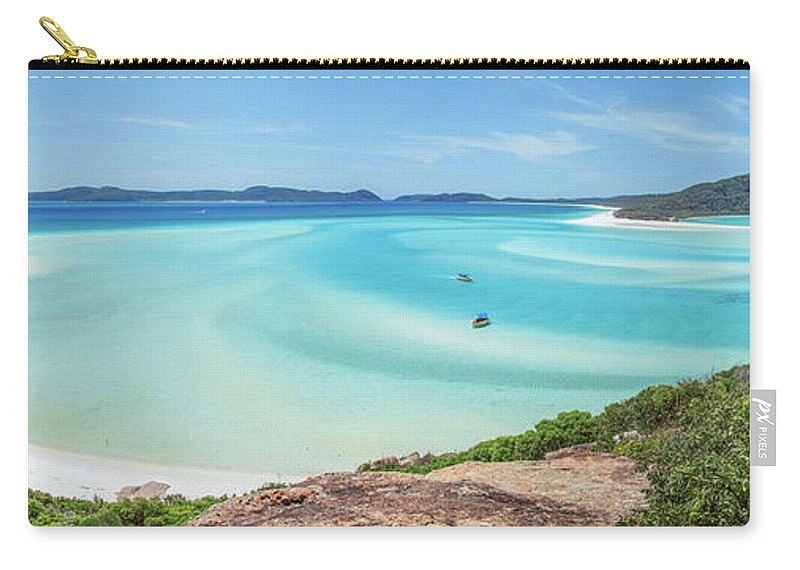 Australia Carry-all Pouch featuring the photograph Hill Inlet Lookout by Az Jackson