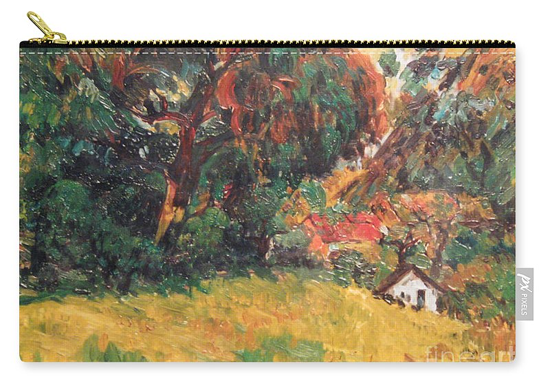 Tree Carry-all Pouch featuring the painting On the Hill by Meihua Lu