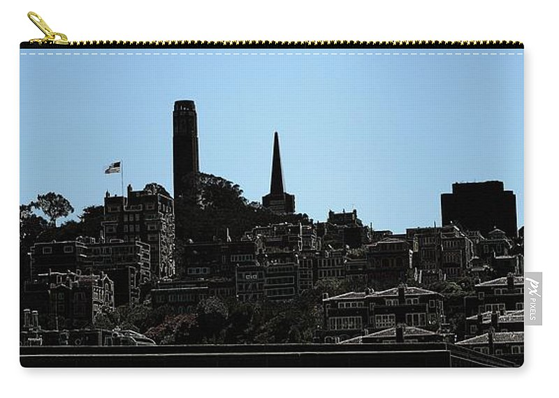 Cityscape Carry-all Pouch featuring the digital art Hill Top by Ron Bissett