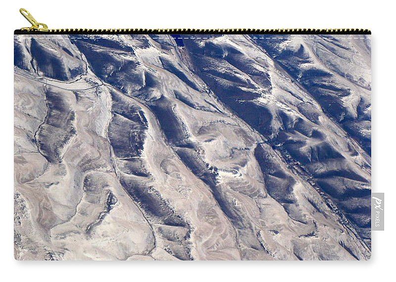 Aerial Carry-all Pouch featuring the photograph Hills And Valleys Aerial by Carol Groenen