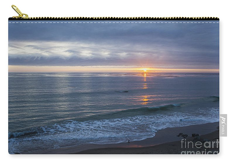 Clouds Carry-all Pouch featuring the photograph Hills Of Clouds With Ocean Sunset by Sharon Foelz