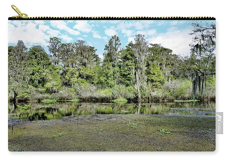 River Carry-all Pouch featuring the photograph Hillsborough River 1 by John Trommer