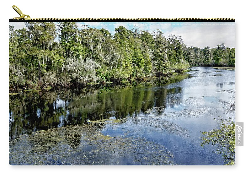 River Carry-all Pouch featuring the photograph Hillsborough River 7 by John Trommer
