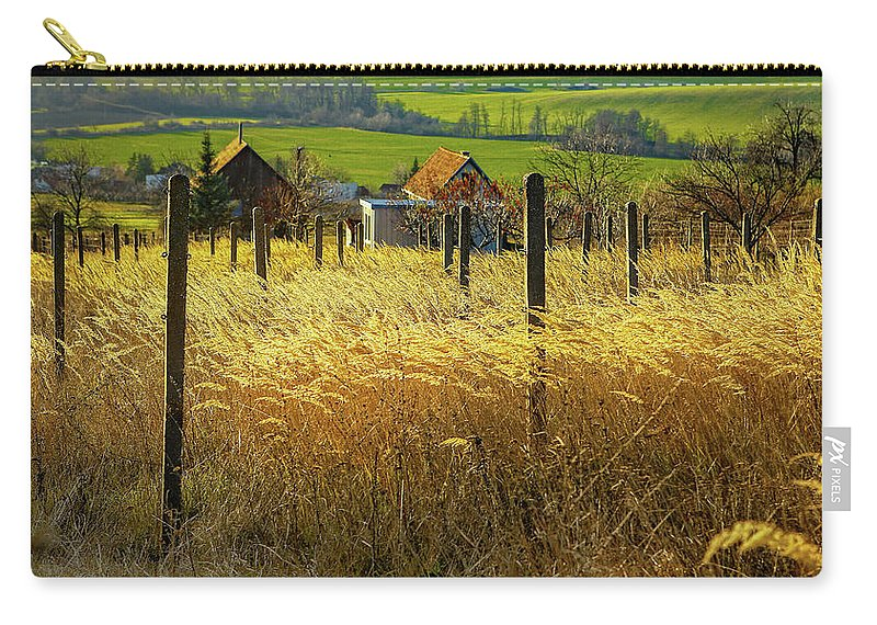 Fields Of Gold Carry-all Pouch featuring the photograph Hillside In Fall Jalaksova, Slovakia by Kurt Meredith
