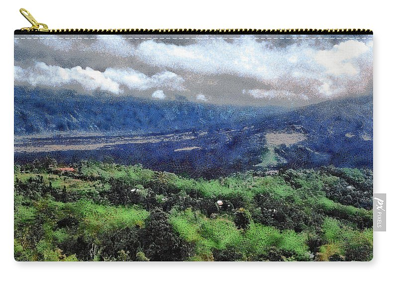 Hill Carry-all Pouch featuring the photograph Hilly Terrain by Ashish Agarwal