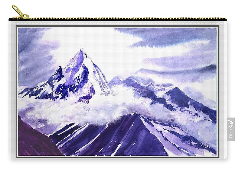 Landscape Carry-all Pouch featuring the painting Himalaya by Anil Nene