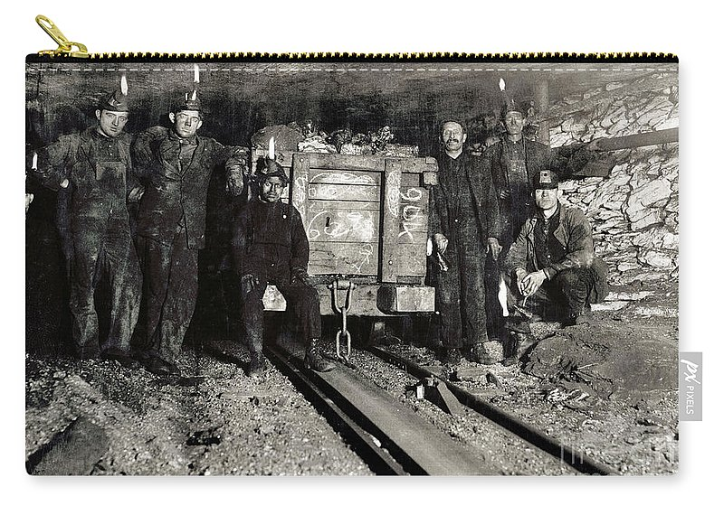 1911 Carry-all Pouch featuring the photograph Hine: Coal Miners, 1911 by Granger