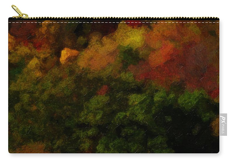 Fall Carry-all Pouch featuring the painting Hint Of Fall Color Painting by Teresa Mucha