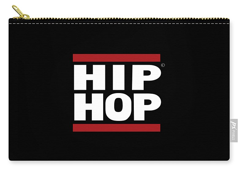 Hiphop Carry-all Pouch featuring the digital art Hiphop by Art the Artist Abdon