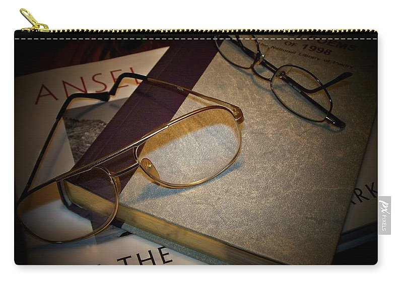 Eyeglasses Carry-all Pouch featuring the photograph His And Hers - A Still Life by Betty Northcutt