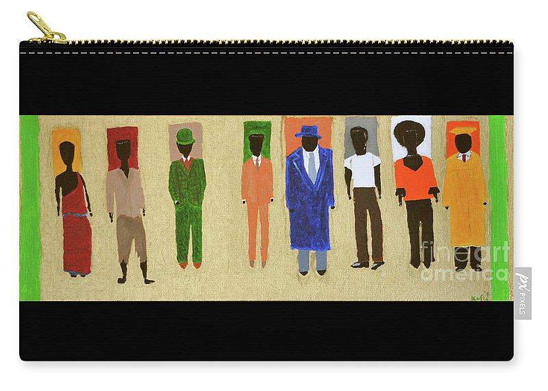 African American Carry-all Pouch featuring the painting His Legacy by Kafia Haile