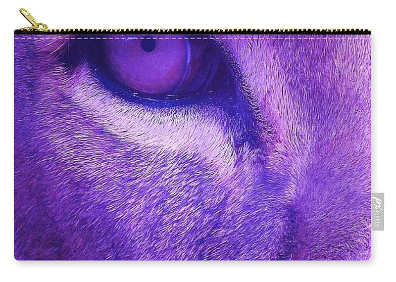 Contemporary Carry-all Pouch featuring the photograph His Royal Eyeness by Margaret Bobb