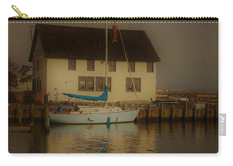 Long Island Carry-all Pouch featuring the photograph Historic Boat Builder by Karen Silvestri