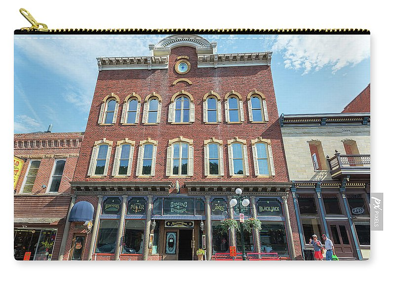 Deadwood Carry-all Pouch featuring the photograph Historic Buildings Deadwood South Dakota by Jess Kraft