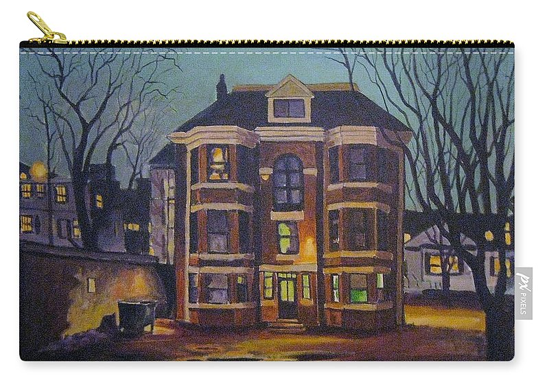 Moody Carry-all Pouch featuring the painting Historic Property South End Haifax by John Malone