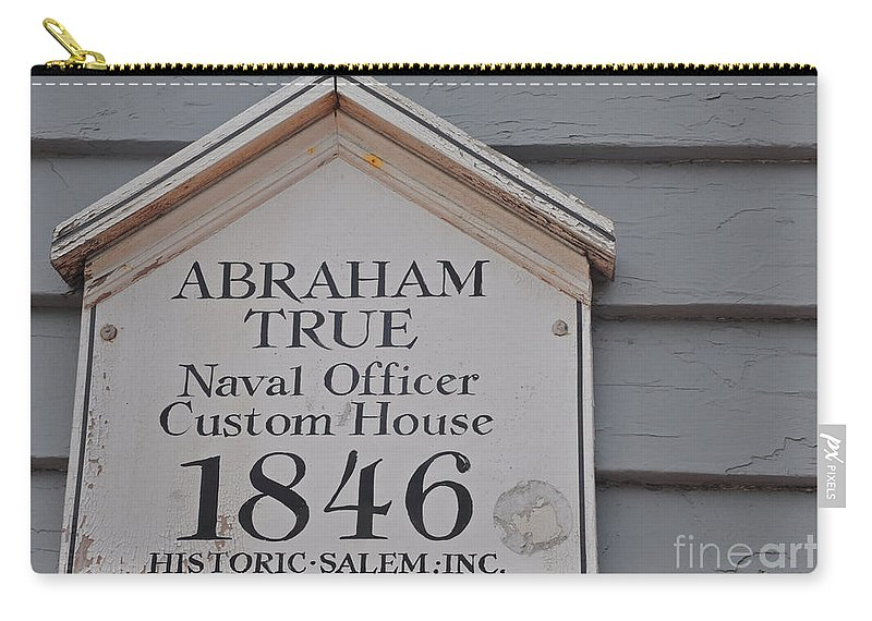 Abraham True Carry-all Pouch featuring the photograph Historic Salem Naval Officer by Brittany Horton