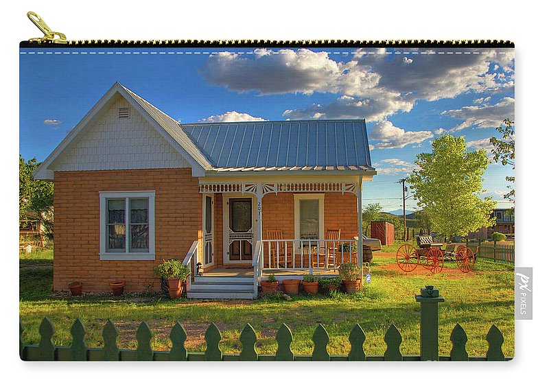 Landscape Carry-all Pouch featuring the photograph Historic Tombstone In Arizona by Charlene Mitchell