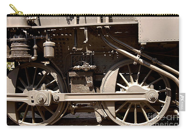 Clay Carry-all Pouch featuring the photograph Historic Trains by Clayton Bruster