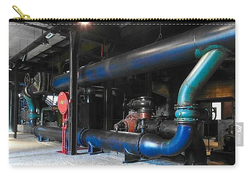 Belgium Carry-all Pouch featuring the photograph Historical Pipes by Elisabeth Derichs