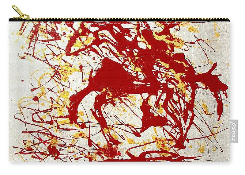 Indian Carry-all Pouch featuring the painting History In Blood by J R Seymour