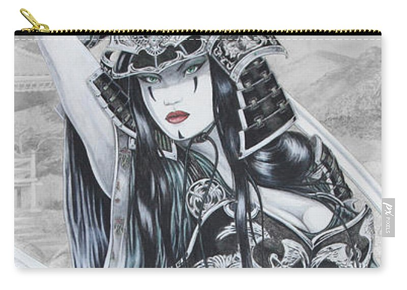 Femme Fatale Carry-all Pouch featuring the drawing Hisuiko by Kristopher VonKaufman