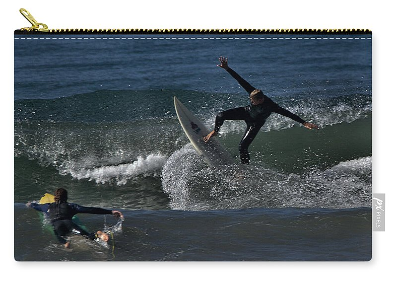 Surf Carry-all Pouch featuring the photograph Hit The Brakes by Michael Gordon