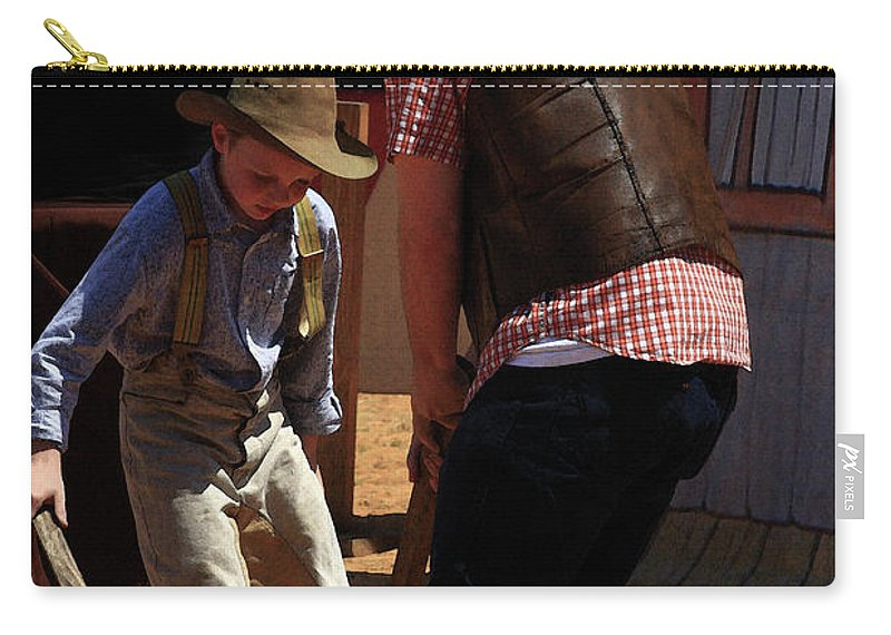 Western Carry-all Pouch featuring the photograph Hit The Can by Kim Henderson