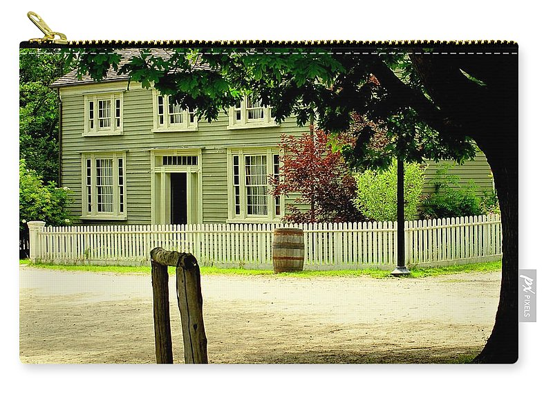 Hitching Post Carry-all Pouch featuring the photograph Hitching Post by Ian MacDonald