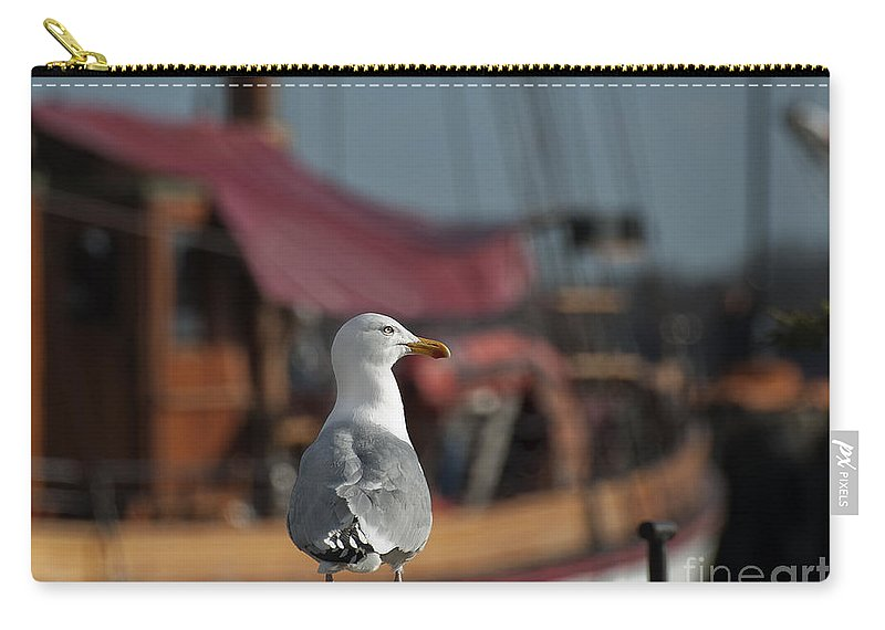 Festblues Carry-all Pouch featuring the photograph Hmm... Sooo... East Or West Today... by Nina Stavlund