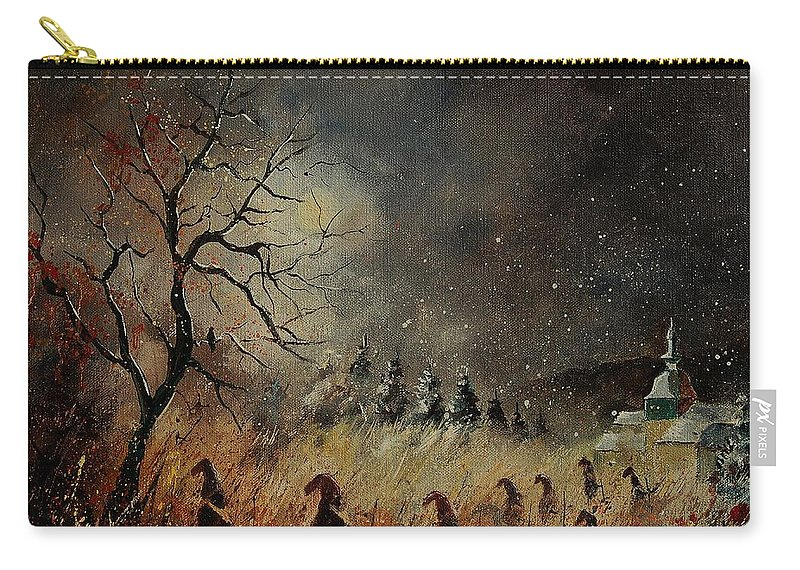 Phantasy Carry-all Pouch featuring the painting Hobglobins At Night by Pol Ledent