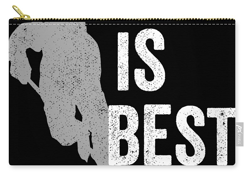 Funny Carry-all Pouch featuring the digital art Hockey Is Best White Ice Gift Light by J P