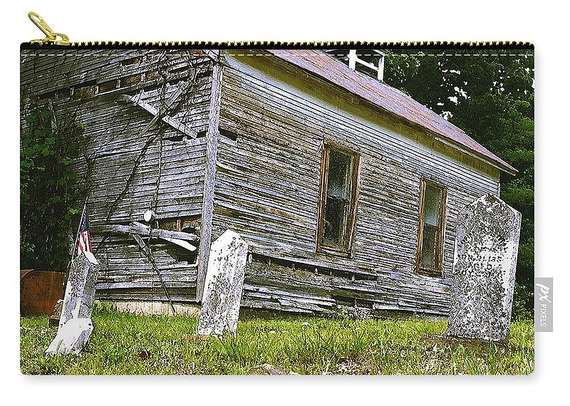 Church Carry-all Pouch featuring the photograph Hocking Hills Church by Nelson Strong