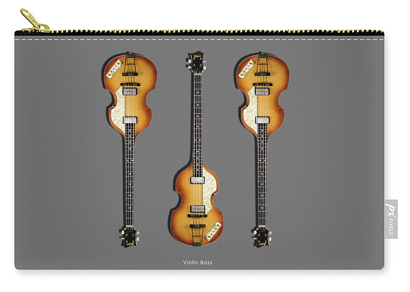 Hofner Violin Bass Carry-all Pouch featuring the photograph Hofner Violin Bass 62 by Mark Rogan