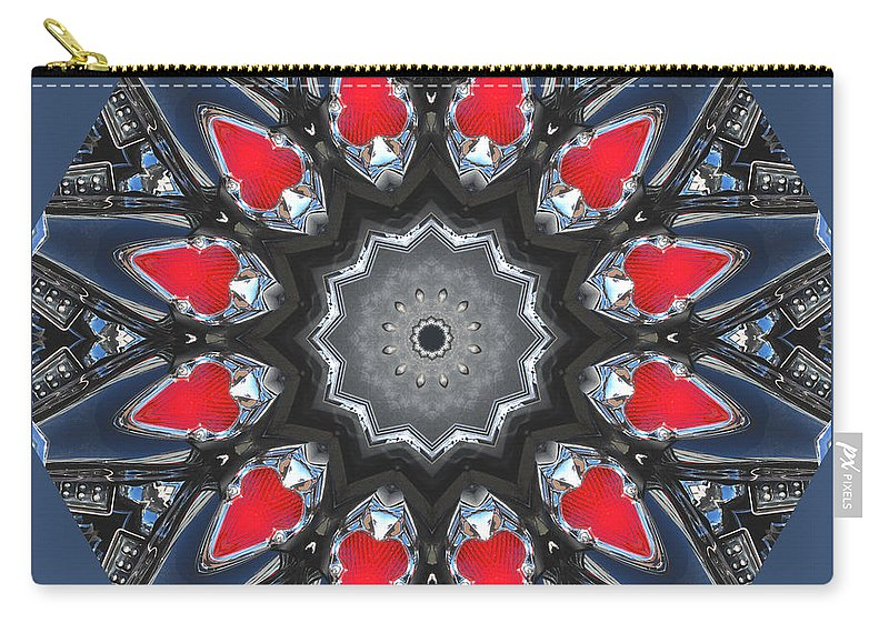 Photography Carry-all Pouch featuring the digital art Valkyrie Kaleidoscope 2 by Wendy Wilton