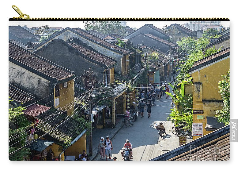 Vietnam Carry-all Pouch featuring the photograph Hoi An Rooftops 01 by Rick Piper Photography