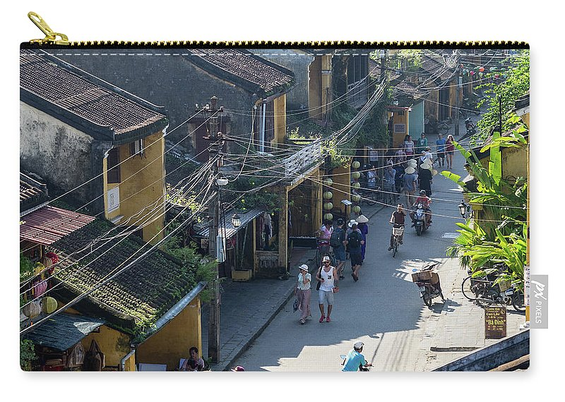 Vietnam Carry-all Pouch featuring the photograph Hoi An Rooftops 02 by Rick Piper Photography