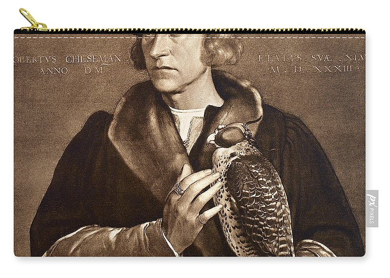 1533 Carry-all Pouch featuring the photograph Holbein: Falconer, 1533 by Granger