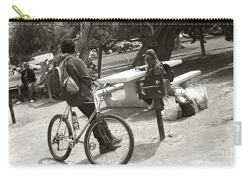 Homeless Carry-all Pouch featuring the photograph Holding Court by Heather Kirk