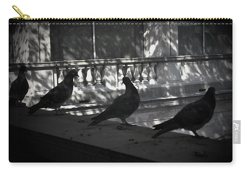 Birds Carry-all Pouch featuring the photograph Holding Court by Tim Nyberg